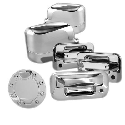 04-08 Ford F150 2DR Chrome Door Handle + Mirror Cover + Gas Tank Cover - Set