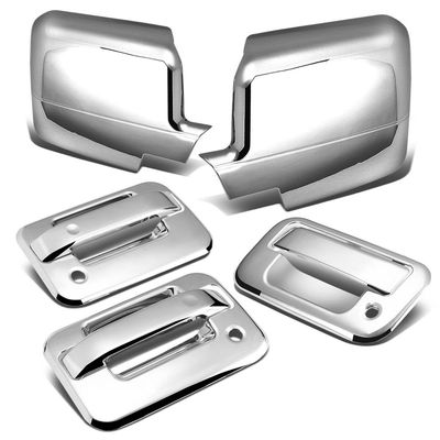 04-08 Ford F-150 11th Gen 2DR Tailgate+Door Handle w/Passenger Keyhole+Mirror Cover (Chrome)
