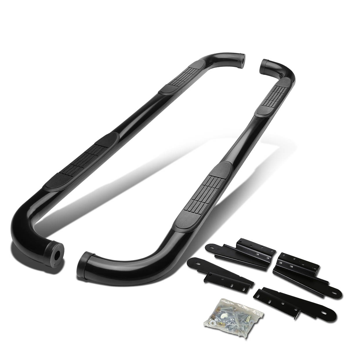 """Chrome Stainless 3/"""" Side Step Nerf Bar For 2004-2008 Ford F150 Ext//Super Cab 4Dr"""