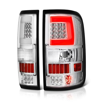 04-08 Ford F150 C-Shaped LED Tube Tail Lights - Chrome