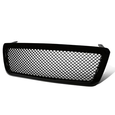 04-08 Ford F150 Pickup Mesh Style Front Grille Grill - Black