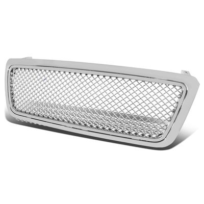 04-08 Ford F150 Pickup Mesh Style Front Grille Grill - Chrome