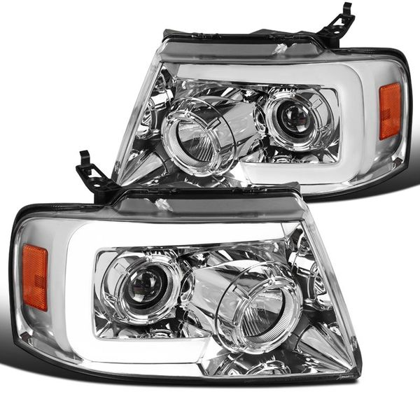 04-08 Ford F150 LED DRL / Sequential Signal Projector Headlights - Chrome