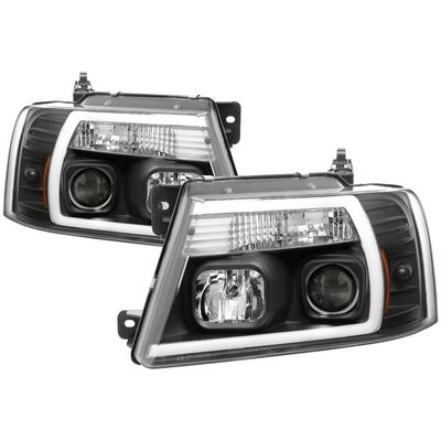 04-08 Ford F150 LED Tube Projector Headlights - Black