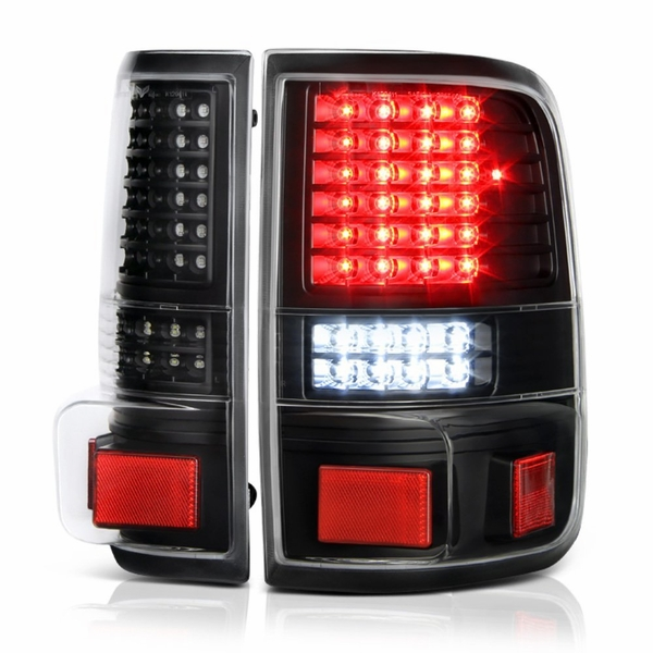 04-08 Ford F150 Pickup Black G2 Full LED Tail Lights