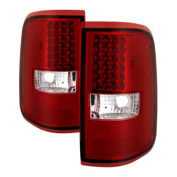 04-08 Ford F150 Styleside (Not Fit Heritage & SVT) LED Tail Lights - Red Clear