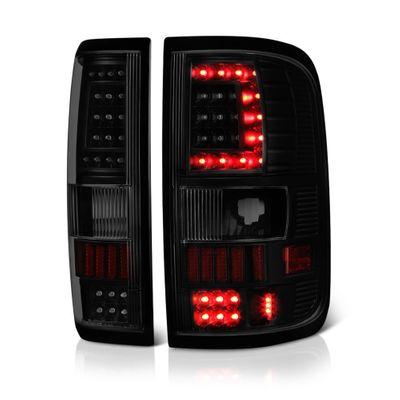 04-08 Ford F150 (Styleside) V2 C-Shaped LED Tail Lights - Black Smoked