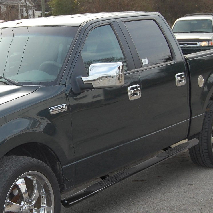 "FOR 04-08 FORD F150 EXT//SUPER CAB 5/"" BLACK OVAL SIDE STEP NERF BAR RUNNING BOARD"