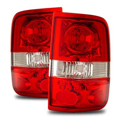 04-08 Ford F150 F-150 Euro Style Altezza Tail Lights - Red / Clear