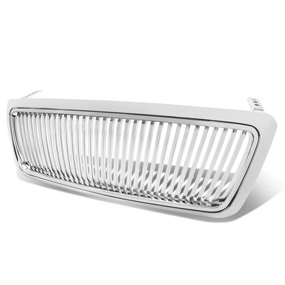 04-08 Ford F150 F-150 Front Bumper Vertical Chrome Grill Grille Guard