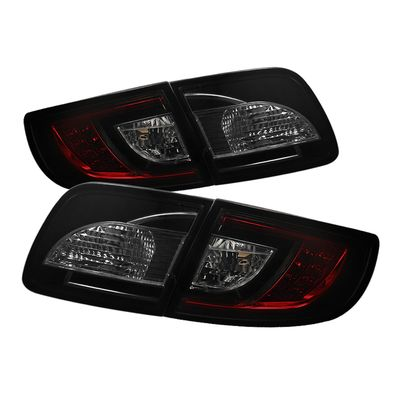 04-08 Mazda 3 Sedan Euro Style LED Tail Lights - Red / Smoked ALT-YD-M303-LED-RS By Spyder