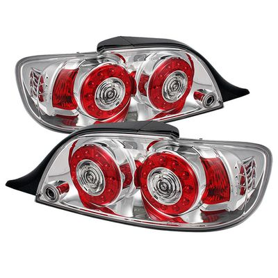 04-08 Mazda RX8 LED Ring-Style Tail Lights - Chrome