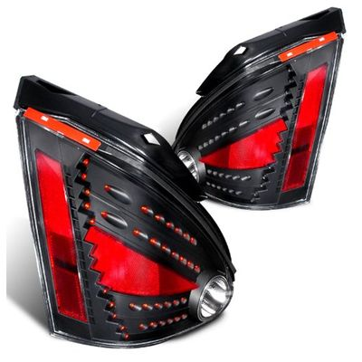 04-08 Nissan Maxima Euro Style LED Tail Lights By Depo - Black