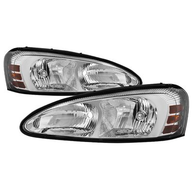 04-08 Pontiac Grand Prix Crystal Headlights Pair - Chrome