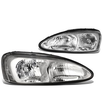 04-08 Pontiac Grand Prix Replacement Headlights - Chrome / Clear