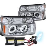HID Xenon + 04-10 Chevy / GMC Colorado Angel Eye Projector Headlights - Chrome