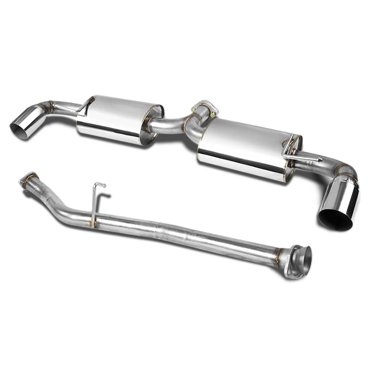"Catback Exhaust System For Mazda 03-10 RX-8 RX8 R2 R3 3.50/"" Dual Muffler Tip SS"