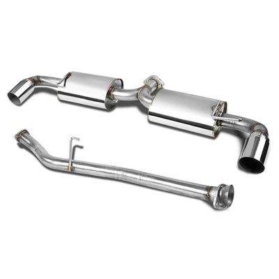 "04-11 Mazda RX-8 Dual Bolt-On Stainless 3.5"" Tip Cat Catback Exhaust"