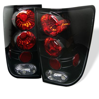 04-11 Nissan Titan Pickup Euro Altezza Tail Lights - Black ALT-YD-NTI04-BK By Spyder