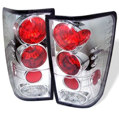 04-11 Nissan Titan Pickup Euro Altezza Tail Lights - Chrome ALT-YD-NTI04-C By Spyder