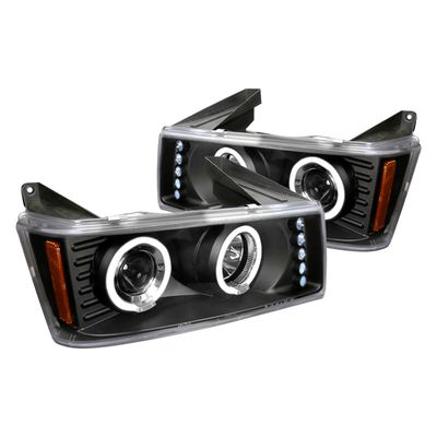 04-12 Chevy Colorado / GMC Canyon LED DRL & Halo Projector Headlights - Black
