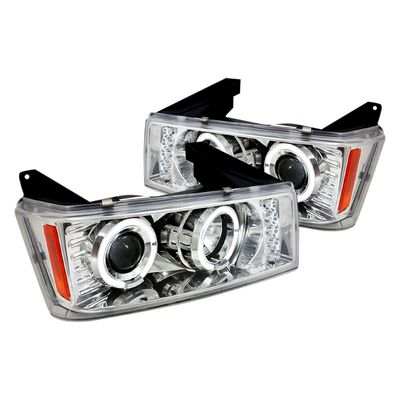04-12 Chevy Colorado / GMC Canyon LED DRL & Halo Projector Headlights - Chrome