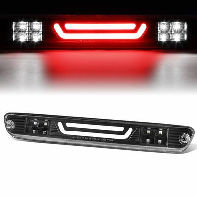 04-12 Chevy Colorado / GMC Canyon 3D LED Bar 3rd Third Brake Light Rear Cargo Lamp (Black / Clear)
