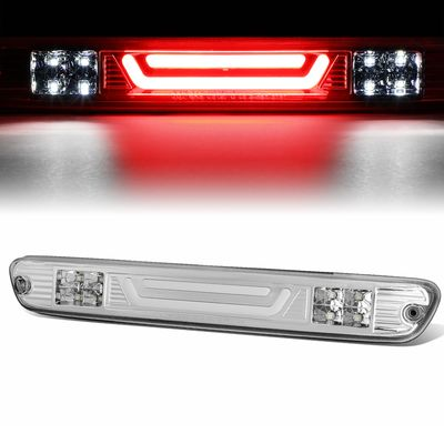 04-12 Chevy Colorado / GMC Canyon 3D LED Bar 3rd Third Brake Light Rear Cargo Lamp (Chrome / Clear)