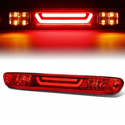 04-12 Chevy Colorado / GMC Canyon 3D LED Bar 3rd Third Brake Light Rear Cargo Lamp (Red / Clear)