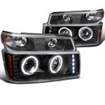 04-12 Chevy Colorado / GMC Canyon Halo Projector Headlights + Bumper Signal - Black