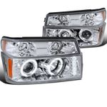 04-12 Chevy Colorado / GMC Canyon Halo Projector Headlights + Bumper Signal - Chrome