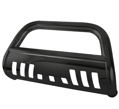 04-12 Chevy Colorado / GMC CanyonT-304 Stainless Steel Grille Grill Push Bull Bar With Skid Plate - Powder Coated Black