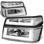 04-12 Chevy Colorado LED DRL Headlight Replacement - Chrome Amber