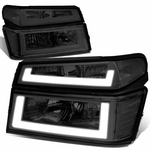 04-12 Chevy Colorado LED DRL Headlight Replacement - Chrome Clear
