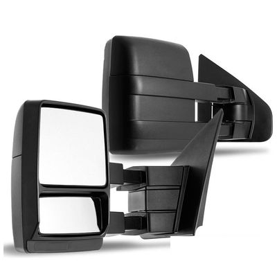 04-14 Ford F150 F-150 [Manual Adjust|Non-Heat] Telescoping Towing Side Mirror - Pair
