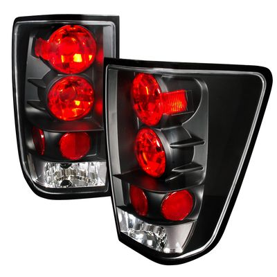 04-12 Nissan Titan Pickup Euro Altezza Tail Lights - Black