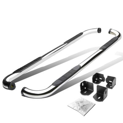 04-13 Chevy Colorado / GMC Canyon Extended Cab 3-Inch Side Step Nerf Bar - Polished Chrome