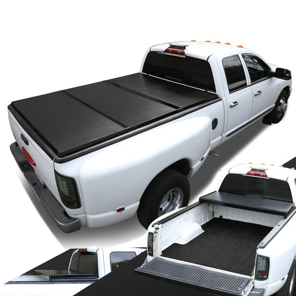 04-14 Ford F-150 with 6.5Ft Fleetside Bed Tri-Fold Hard Tonneau Cover + LED Lights