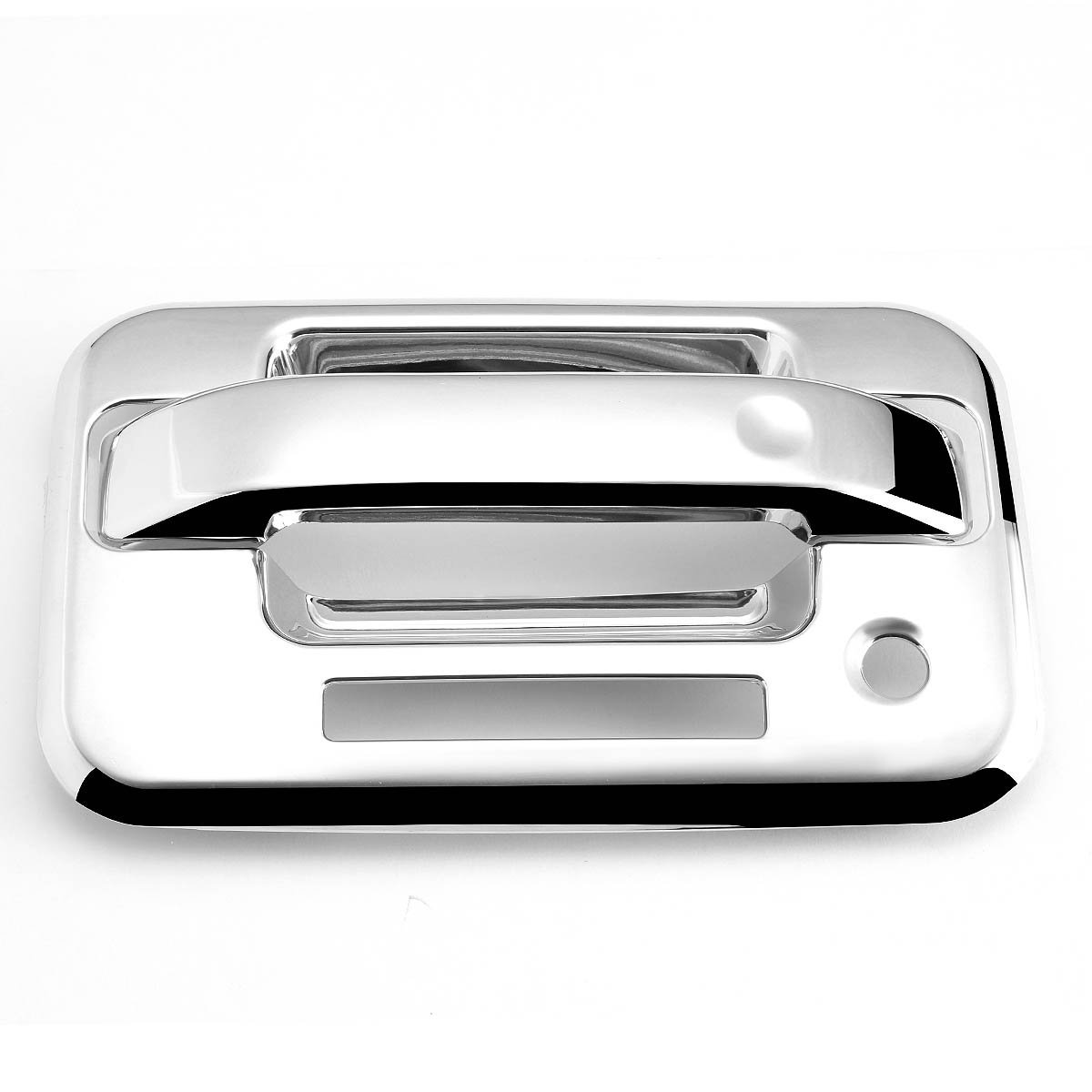 04 14 Ford F150 2dr 2pcs Exterior Door Handle Cover With Keypad Chrome