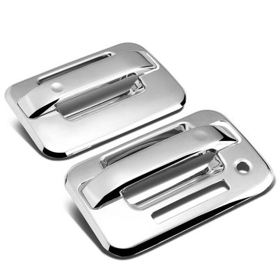 04-14 Ford F150 2DR 2pcs Exterior Door Handle Cover with Keypad (Chrome)
