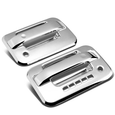 04-14 Ford F150 2DR 2pcs Exterior Door Handle Cover with Passenger Keyhole & Keypad (Chrome)