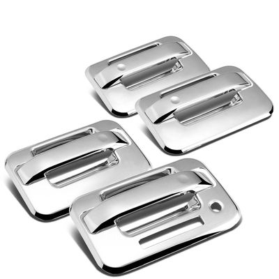 04-14 Ford F150 4DR 4pcs Exterior Door Handle Cover with Keypad (Chrome) by Auto Dynasty