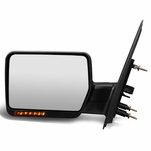 04-14 Ford F150 Black Manual Foldable Side Towing Mirror w/LED Turn Signal (Left/Driver)