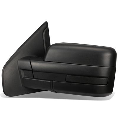 04-14 Ford F150 Black Powered Heated Glass + Manual Folding Side Towing Mirror (Left/Driver)