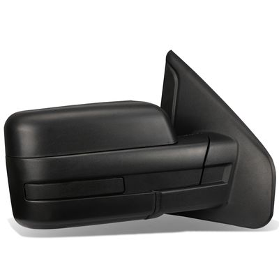 04-14 Ford F150 Black Powered Heated Glass + Manual Folding Side Towing Mirror (Right/Passenger)