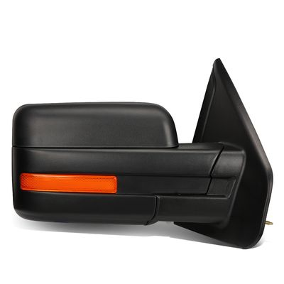 04-14 Ford F150 Black Powered Heated Glass + Turn Signal Light Side Towing Mirror (Right/Passenger)