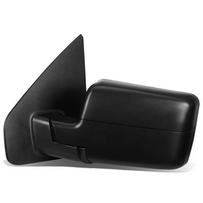04-14 Ford F150 Black Powered + Heated Manual Foldable Side Towing Mirror w/LED Turn Signal (Left/Driver)