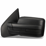 04-14 Ford F150 Black Textured Telescoping Manual Folding Side Towing Mirror (Left/Driver)