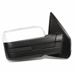 04-14 Ford F150 Chrome Powered Heated Glass + Manual Folding Side Towing Mirror (Right/Passenger)