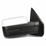 04-14 Ford F150 Chrome Textured Telescoping Manual Folding Side Towing Mirror (Right/Passenger)